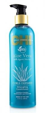 Kudrnaté vlasy Farouk Chi Aloe Vera Curls Defined Enhancing Conditioner 340 ml