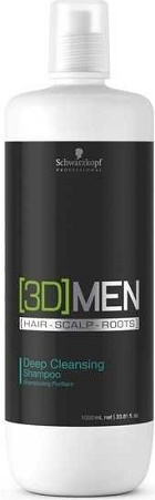 Schwarzkopf Professional [3D] Men Deep Cleansing Shampoo 1000 ml
