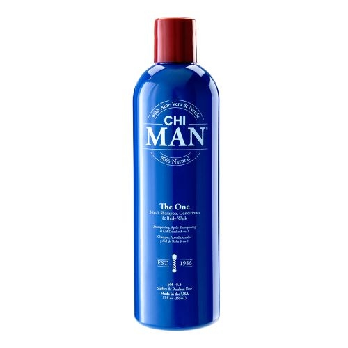 Lesk vlasů Farouk System CHI Man The One 3-in-1 Shampoo, Conditioner &  Body Wash 355 ml