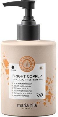 Maria Nila Colour Refresh Bright Copper 7.40 maska s barevnými pigmenty 300 ml