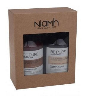 NiaMh Be Pure Restore Gift Bag (Shampoo  500 ml + Mask 500 ml)