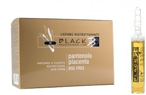 Padání vlasů Black Professional Line Panthenol & Placenta Hair Lotion vlasové sérum 12 x 10 ml